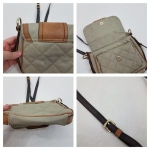 Guess Bags - Guess Bag Cross Body Gray Brown Quilted Small Chai